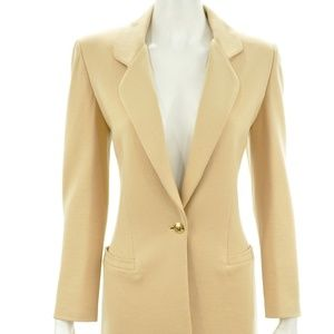 ST. JOHN COLLECTION BY MARIE GRAY TAN BLAZER 8